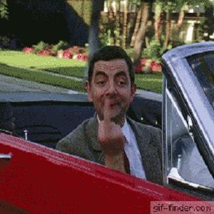Mr Bean doigt d'honneur