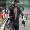 Cycliste explose son vélo