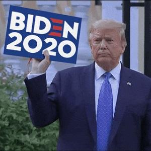 Donald Trump supporter de Joe Biden