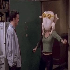 Monica danse de la dinde