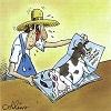 Fermier et les vaches