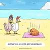 La poule et son bronzage