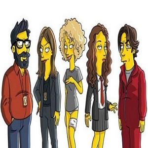 Casa de Papel version Simpson