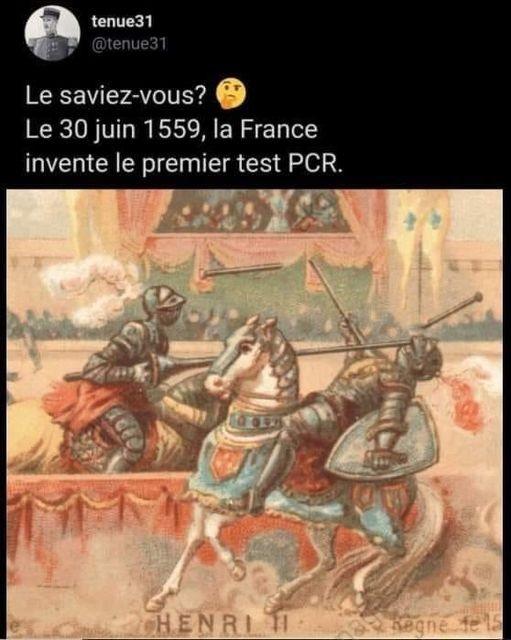 Le premier test pcr
