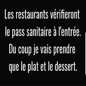 Restaurant et pass sanitaire