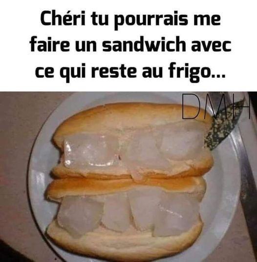 Sandwich avec les restes