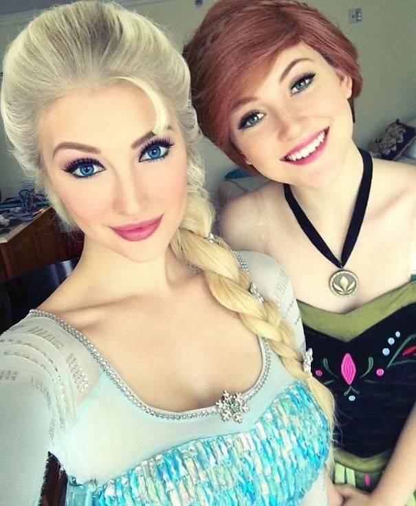 Cosplay Elsa et Anna