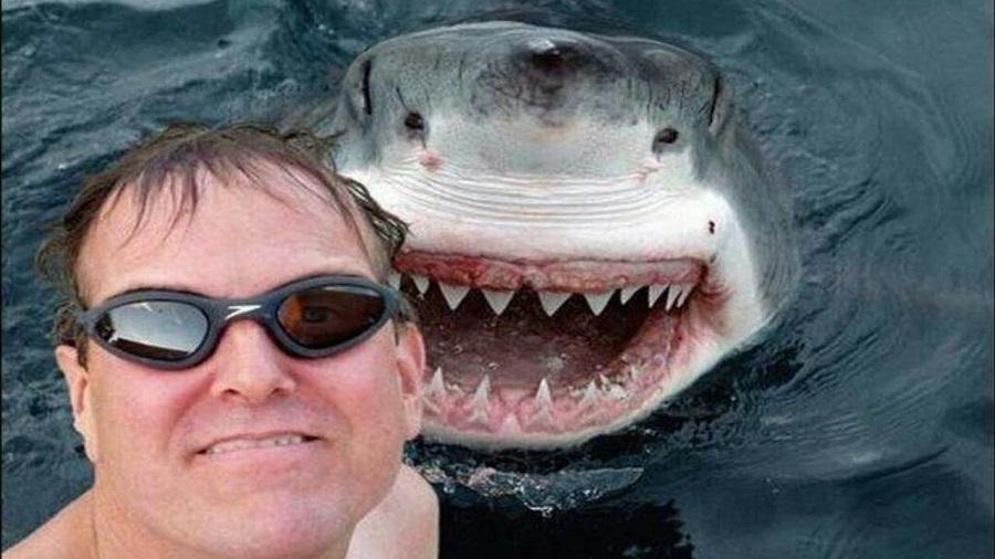 Selfie avec un requin