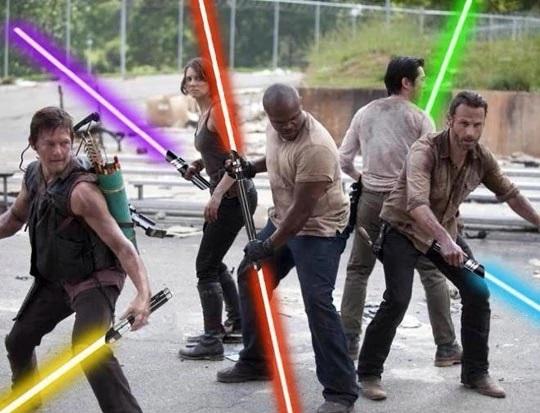 Walking Dead avec des sabres lasers